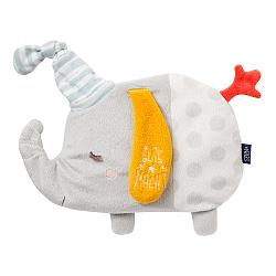 Heatable soft toy elephant