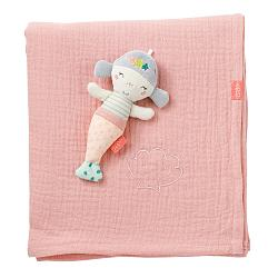 Muslin blanket mermaid