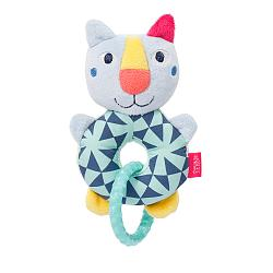 Soft ring rattle cat