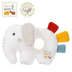 Soft ring rattle elephant fehnNATUR