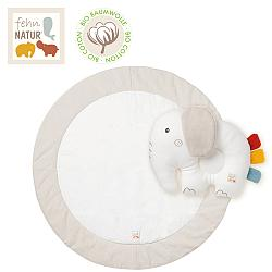 Crawling mat elephant fehnNATUR with pillow