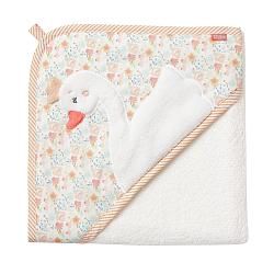 Bild Hooded bath towel swan