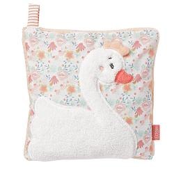 Cherry stone cushion swan