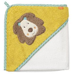 Hooded bath towel lion