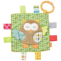 Crinkle toy owl with ring
