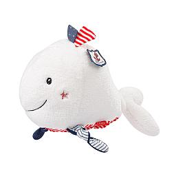 Heatable soft toy whale