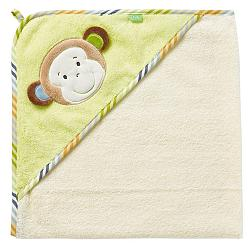 Hooded bath towel monkey