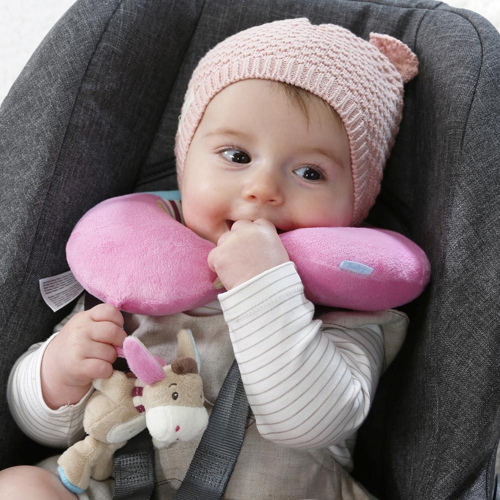 Fehn Nackenstütze Nackenkissen Esel Babys Kleinkinder Kinderwagen Babyschale Aut