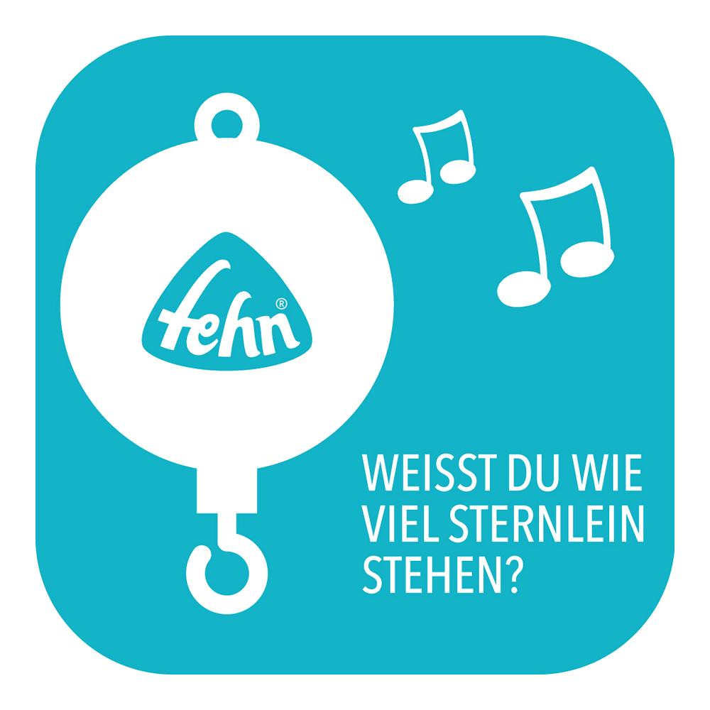 /ø 40 cm Spieluhr-Mobile mit niedlichen Bewohnern des Waldes zum Lauschen /& Staunen Zum Befestigen am Bett f/ür Babys von 0-5 Monaten H/öhe: 65 cm Fehn 071214 Musik-Mobile Forest